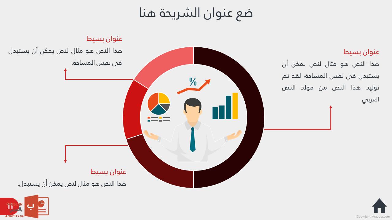 قالب أعمال الشركات - نموذج عرض بوربوينت عربي احترافي جدا ...