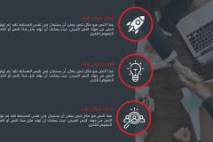 قالب أعمال الشركات - نموذج عرض بوربوينت عربي احترافي جدا ومجاني (حصري) Slide4