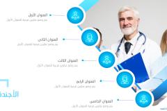 Slide2 قالب بوربوينت طبي - عرض بوربوينت مجاني و احترافي للمستشفيات والعيادات (حصري)
