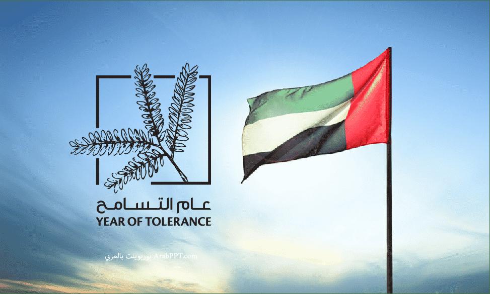 شعار عام التسامح 2019 الامارات png